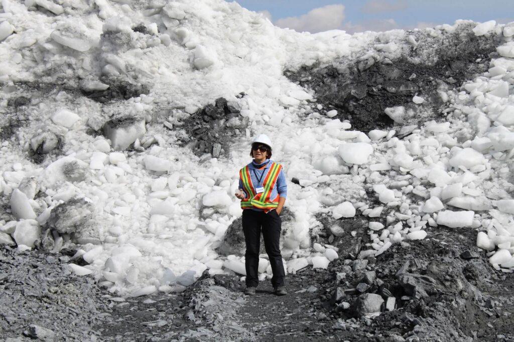 Е.А. Рыбак Отвал льда Месторождение Кумтор Кыргызстан