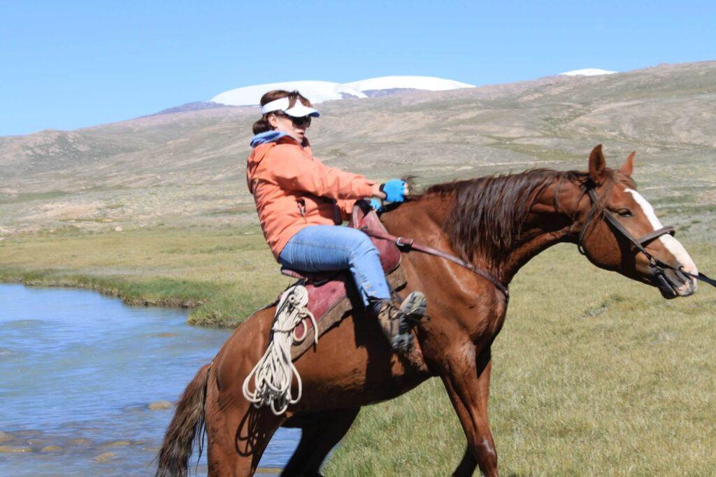 Е.А. Рыбак Переправа через р. Арабель Внутренний Тянь-Шань Кыргызстан
