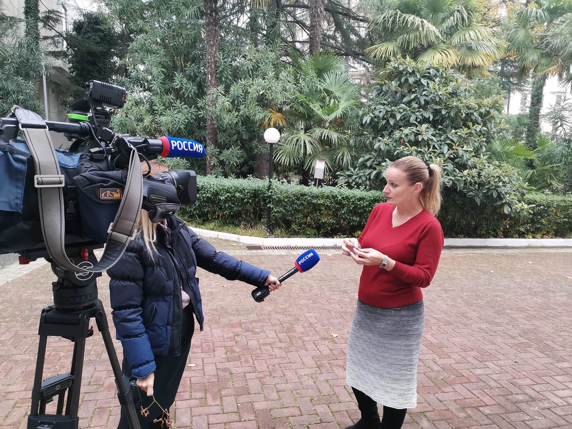 Н.Н. Карпун дает комментарии телекомпании ВГТРК