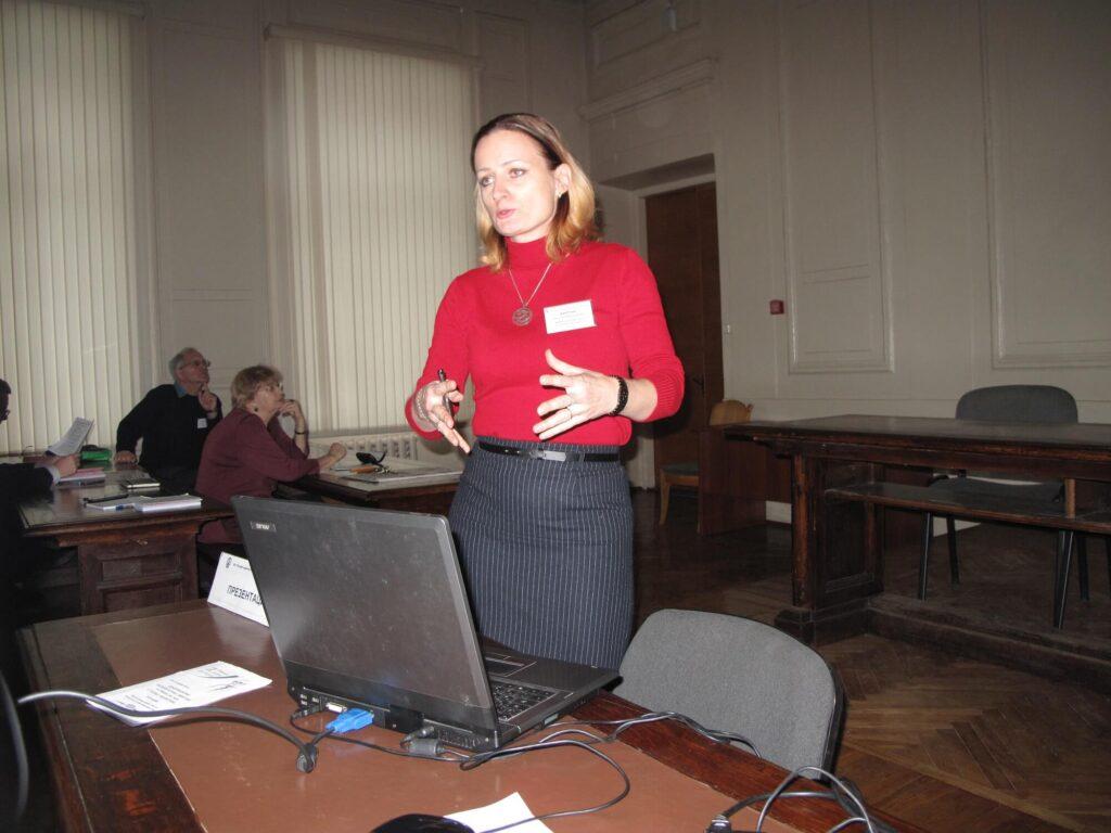 Выступление Н.Н. Карпун на международной конференции, Санкт-Петербург, 2016 г.